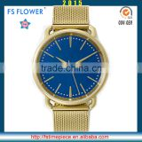 FS FLOWER - Nice New Fashion Watch Stainless Steel Fashion Watch Metal Mesh Belt