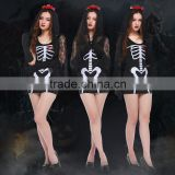 ghost bride black midi bodycon dress with veil cosplay costumes PS-2183