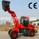 Construction loading machine, heavy duty telescopic wheel loader loading machine for sale