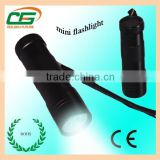 PC lens Aluminum body bullet shaped mini LED torches
