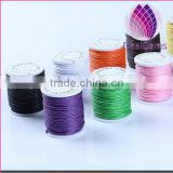 Hot sell colorful 2.0mm round korea cotton waxed cord for bracelet necklace garments wholesale