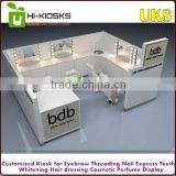 factory direct sale mall salon furniture eyebrow threading kiosk design for shopping mall