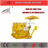 BM-6A BM-10A Hydraulic Mobile Concrete Block Brick Making Machine, Brick Moulding Machine for sale
