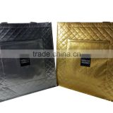 high quality silver gold laminated pp non woven bags