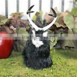 Horns Easter Bunny Furry Animal Taxidermy Decor Black Jackalope Rabbit