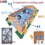2000*600*100 brown and green wet wall evaporative cooling system