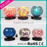 New Mosaic Table Lamp,colorful glass& Metal Desk Lamp Decoration Lighting for Indoor (bedroom/living room/dining room)