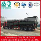 3 Axles Hot sale Semi-remolque / 3 axles sidewall semi trailer / flatbed semi trailer with side panel