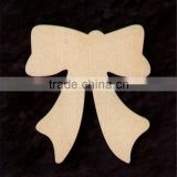 Hot sell 12 BOW Shapes 2.5 inches Tall Natural Craft Wood Cutout made in China