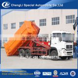 factory sale good quality 6x4 dongfeng 12 m3 hook loader waste truck with lowest price