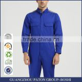 Wholesale Blue Color 100 Cotton Mechanic Working Coverall