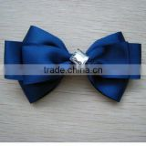 4inch stain ribbon bow/ single stain ribbon bow