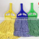 High quality colorful washable cleaning cotton mop Looped Ends Cotton Wet floor cleaning Mop Head