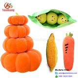 Custom Stuffed Vegetables And Fruits Toy Pumpkin Carrot Strawberry Corn Mushroom Banana Plush Toy