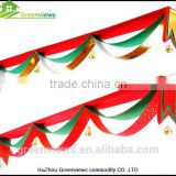 Christmas bunting flag Wave Flag with Bell and Ball 3 Layers Banner Merry Christmas Decor Ceiling Light Ornament