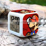 2015 Hot GAME Super Mario LED Alarm Clock, Super Mario Digital Alarm Clock, Super Mario Cartoon Clock for Kids
