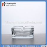LongRun glass material frosted square marlboro cigarettes glass ashtray with cut decal design set of six