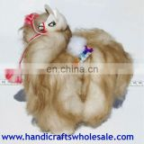 Alpaca Long Fur stuffed animal 19 cm - unique decoration collection figurines - handmade gifts