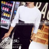 Peijiaxin Casual Style O-neck Custom Printing Soft Cotton Men Plain Long Sleeve Tshirts