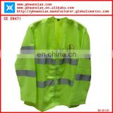 long sleeves reflective jackets with zipper closure,sleeves safety jackets with class3 tape ,sleeves reflective jackets