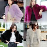 Women Warm Real Fox Fur Coat Short Winter Fur Jacket Outerwear Natural Blue Fox Fur Coats