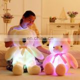 2017 HI CE hot selling glow toys for kids, light up teddy bear plush toy for china factory