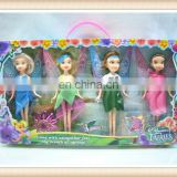 plastic group magical fairy doll toy