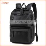 Multifunctional pu leather strong laptop backpack bag for business