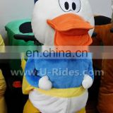 Creative machine toys Duck riding animal costume for kids
