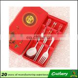 Weeding gifts stainless steel dinnerware with ceramic handle