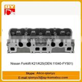 excavator engine parts Forklift K21 K25(OEN 11040-FY501) cylinder head