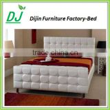 Double Luxury Italian Bed Frame Made In China Leather Double Bed Frame