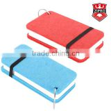 eco-friendly felt spiral notebook high qulaity mini wool notebook Multicolor cover with elastic