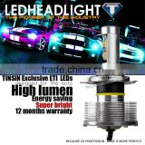Dual beam All-in-one 30w h4 led headlight bulbs for BMW TOYOTA all vehicles