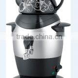 Black Stainless Steel Kettle with Ceramic Teapot