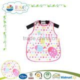 Fashion PEVA white color animal pattern printing baby bib