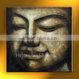 oil painting on canvas home decoration buddha head hand painted