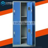 Capital Indoor Stadium Public Storage System Gym Metal Fold Fabric Wardrobe Clothes and Foot shoes Locker