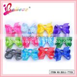 Wholesale crafts cheerleading hair accessories, baby hair elastic, covered elastic hair bands