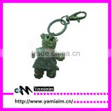Promotional Crystal bear wear dance skirt keychain factory