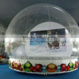 Customized clear PVC inflatable Christmas bubble snow globe