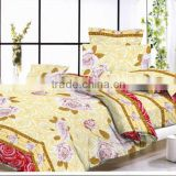 90gsm 100% polyester microfiber bedding sets /bed sheet/pillow case/trade assurance