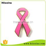 Quality High Custom Breast Cancer Awareness Pink Ribbon Lapel Pin                                                                         Quality Choice