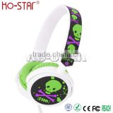 Stereo Rubber Ear Cups Headphone with Embossed Logo Pressure Reduction PU Ear Cushions and Sleeve
