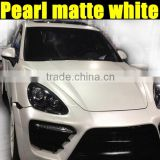 New arrival pearl matte white sticker for car body decoration with size 1.52*20m/Roll