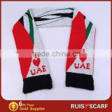 Customized knitted football scarf pattern football team scarf