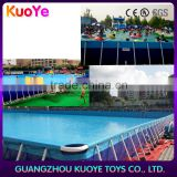 outdoor swimming pool, frame pool with water toys inflatable, china supplier pool for amusement park