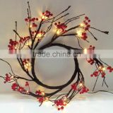 lighted red berry wreath supplies wholesale