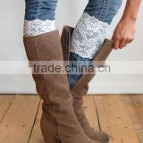 Wholesale Women Lace Leg Warmers Elastic Lace Boot Socks Flower Design Lace Boot Toppers