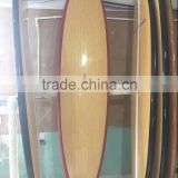 top BAMBOO bottom painting sup board / stand up paddle board with carbon fiber rail